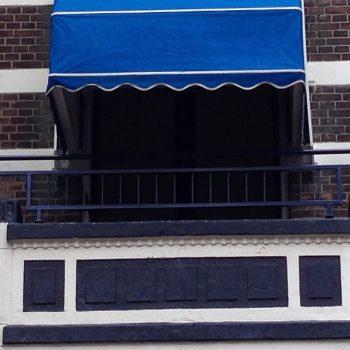 Balkonhekje geplaatst