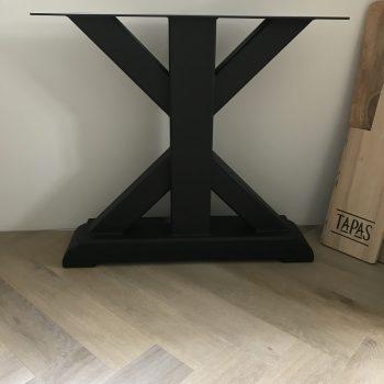 Stalen tafelpoot zwart